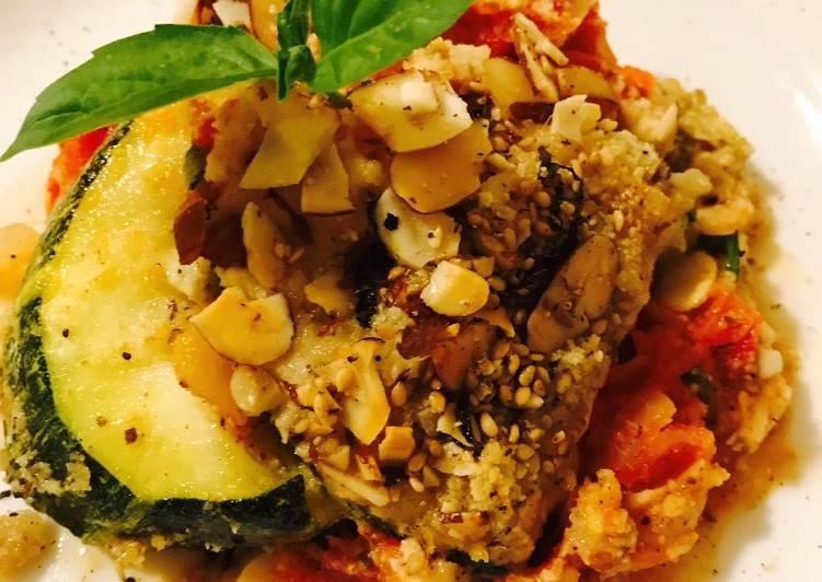 Zucchini Eggplant No Ham Parmesan