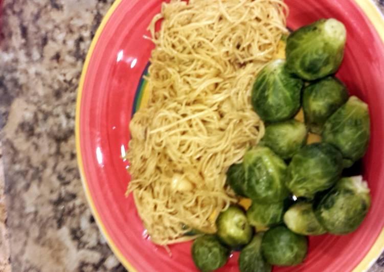 Yummy scallop noodle