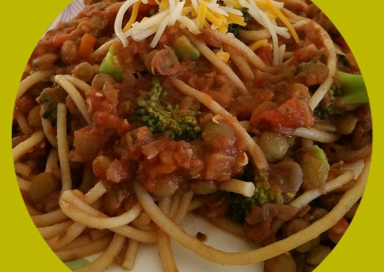 "Spaghetti with ""Meat"" Sauce"