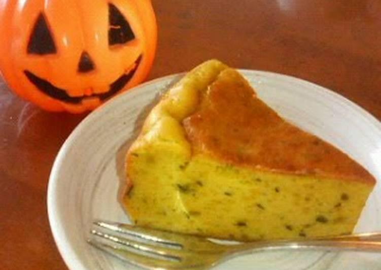 Easy Kabocha Cheesecake for Halloween