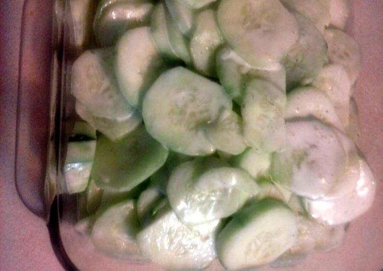Easiest Way to Cook Delicious Easy Ranch Cucumbers