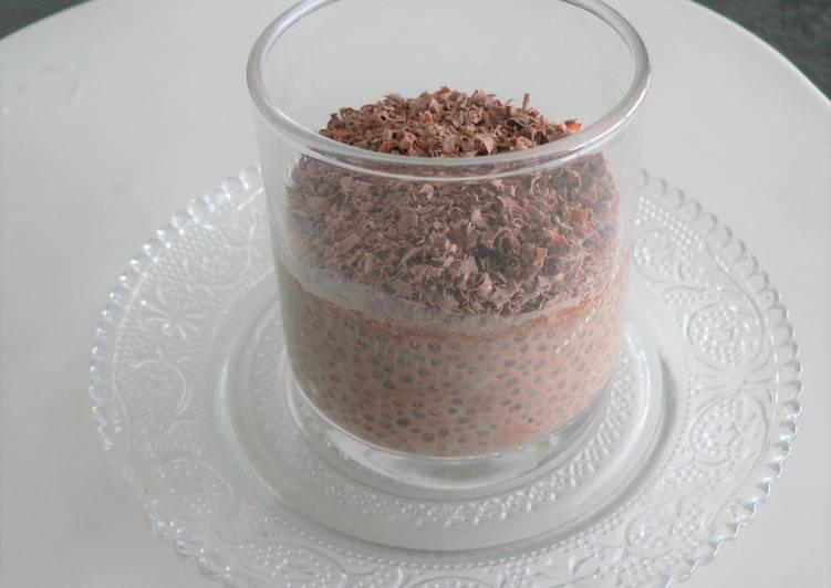 Chia pudding au chocolat