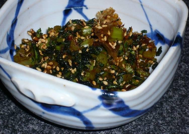 Rice Condiment Daikon Radish Leaves (Turnip Greens) for Fridge Stocking