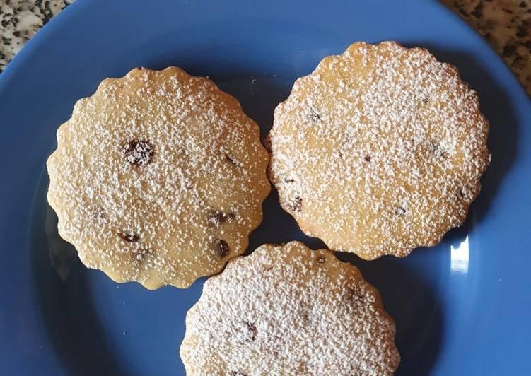 Biscotti con gocce di cioccolato vegani
