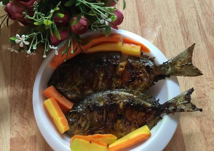 Ikan bakar teflon simple
