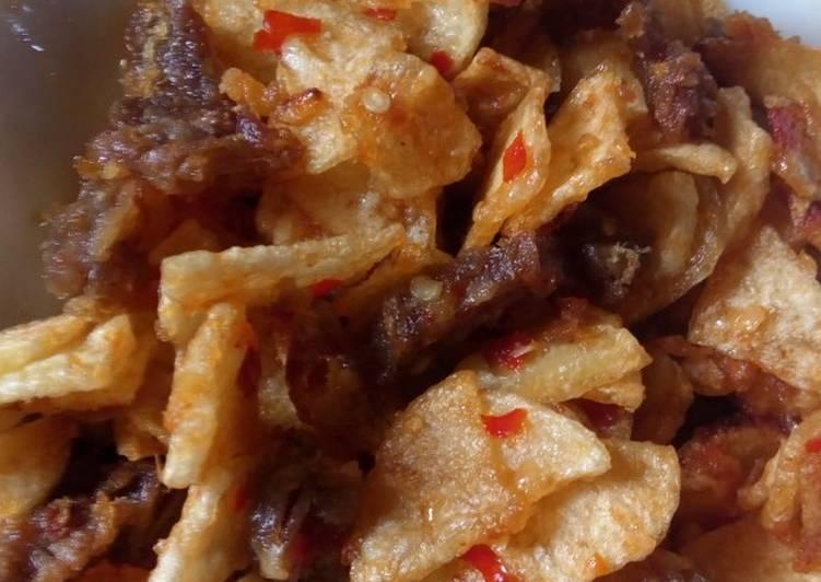 Kering balado daging sapi kentang