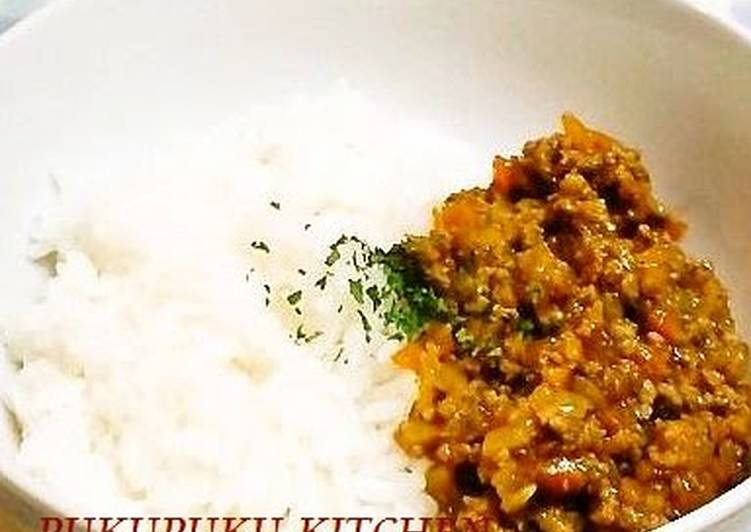 A Mild Dry Curry with Ketchup