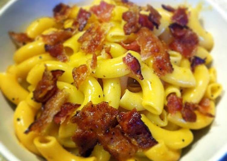 Easiest Way to Make Tasty Creamy Bacon Mac And Cheese