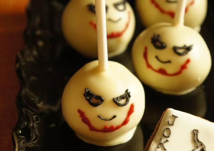 """Halloween Themed """"The Joker"""" Cake Pops"""