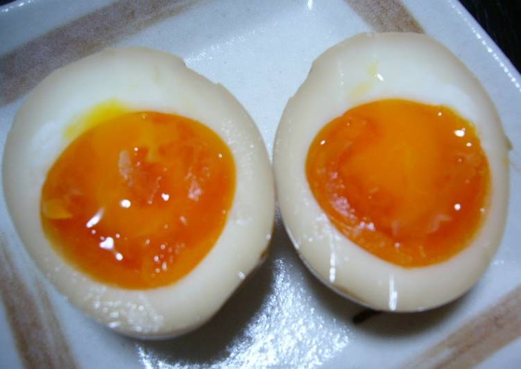 Soft-Boiled Marinated Eggs For Ramen or Over Rice