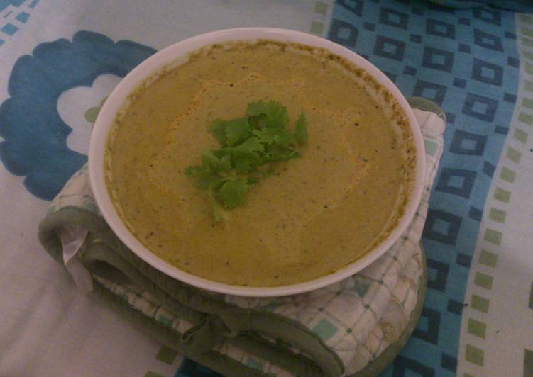 Carrot, Spinach and Coriander Soup!