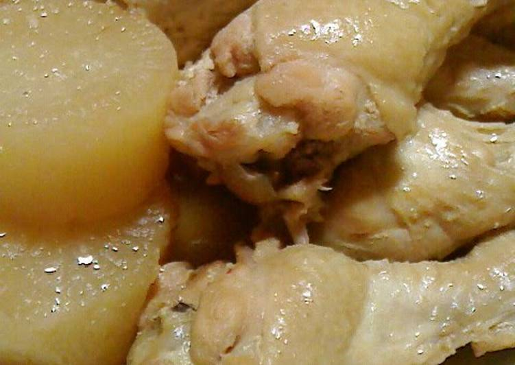 Use Food to Improve Your Mood Simmered Chicken Drumettes, Daikon, and Atsuage Tofu