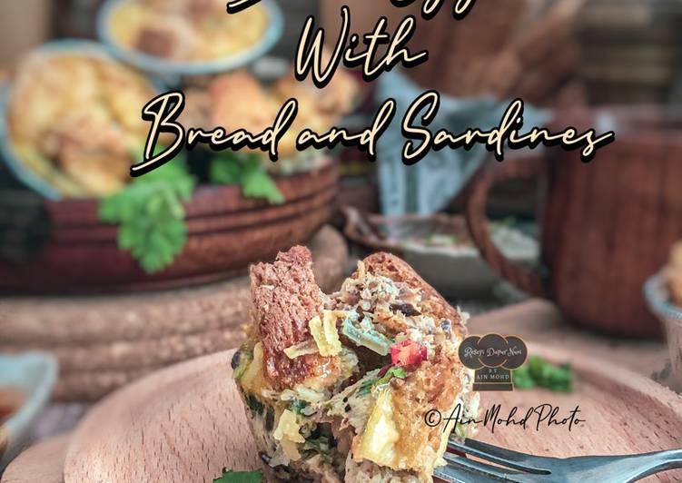 Cara Mudah Masak: Bake Egg With Bread And Sardines  Dirumah