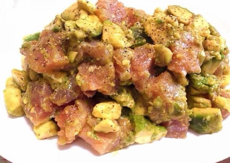 Japanese Tuna Avocado Salad Recipe
