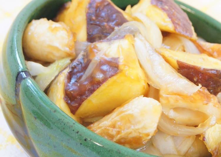 Steps to Make Super Quick Homemade Sweet Potato Side Dish - Sweet and Sour Stir-Fry