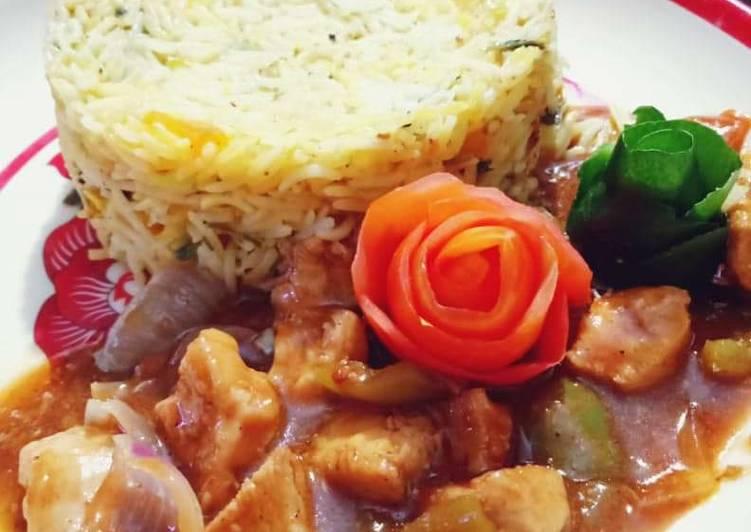 Chicken Manchurian & fried rice