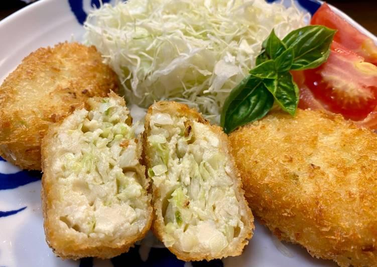 Recipe: Perfect Tofu Cabbage Cutlet (vegan)