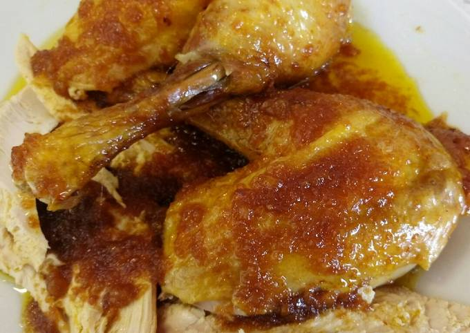 Roasted Capon With An Orange And Brandy Sauce Recipe By Miss Fluffy S Cooking Cookpad