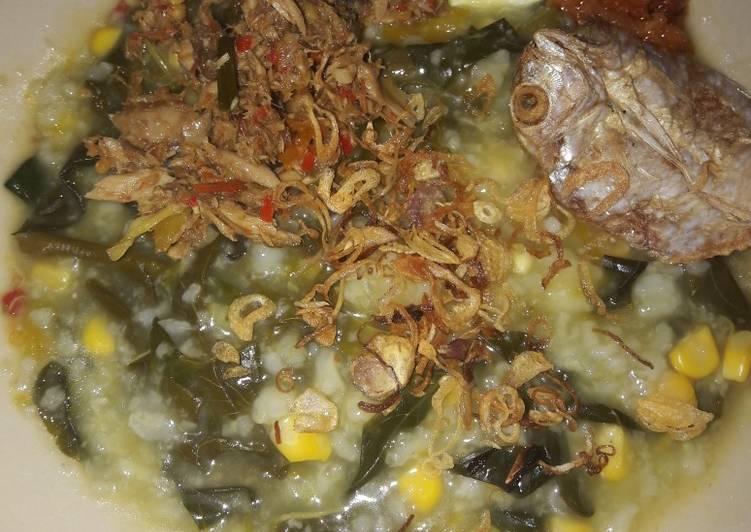 Bubur manado dan sambal cakalang yummy#5resepterbaruku