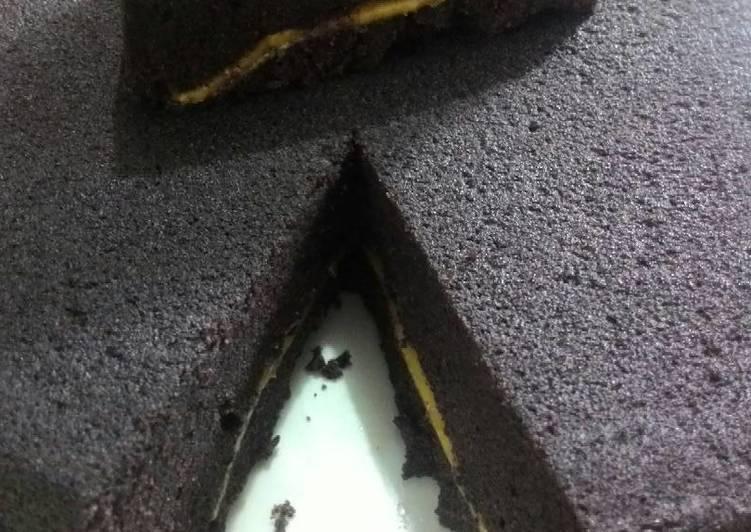 Bolu kukus ketan hitam with cheese slice soft banget