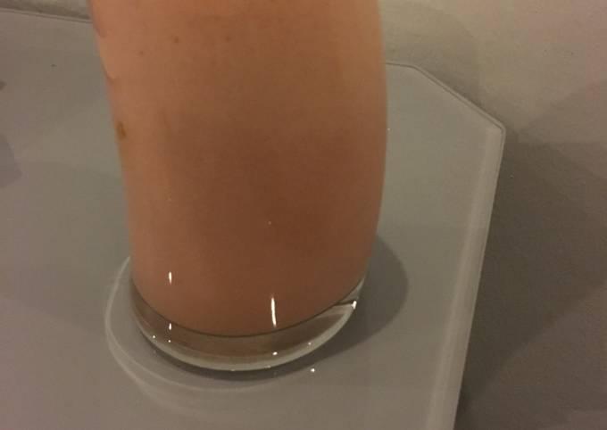 Creamy and cooling watermelon coconut milkshake