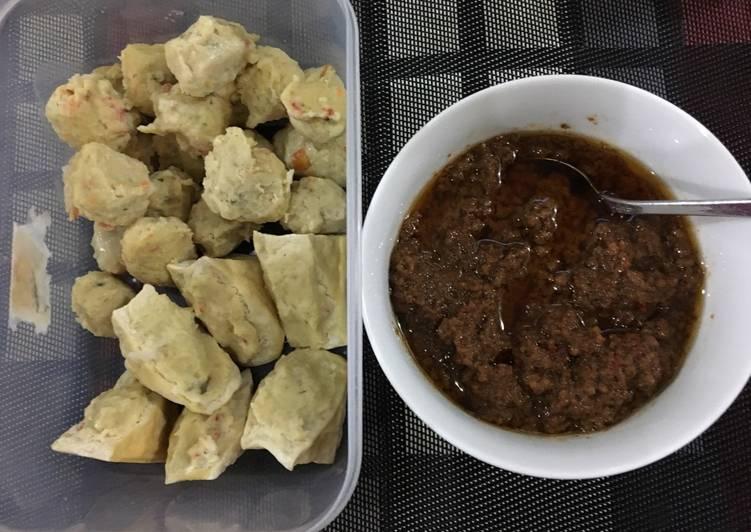 Resep Baso Tahu Siomay Bandung (bahan ayam dan udang) Lezat