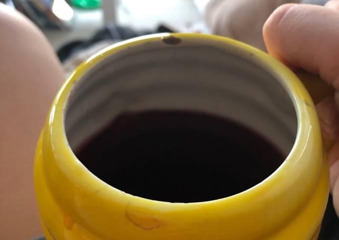 The rose hip hibiscus tea