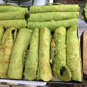 Canelones verdes... (Sin Harina de trigo, ni lácteos)