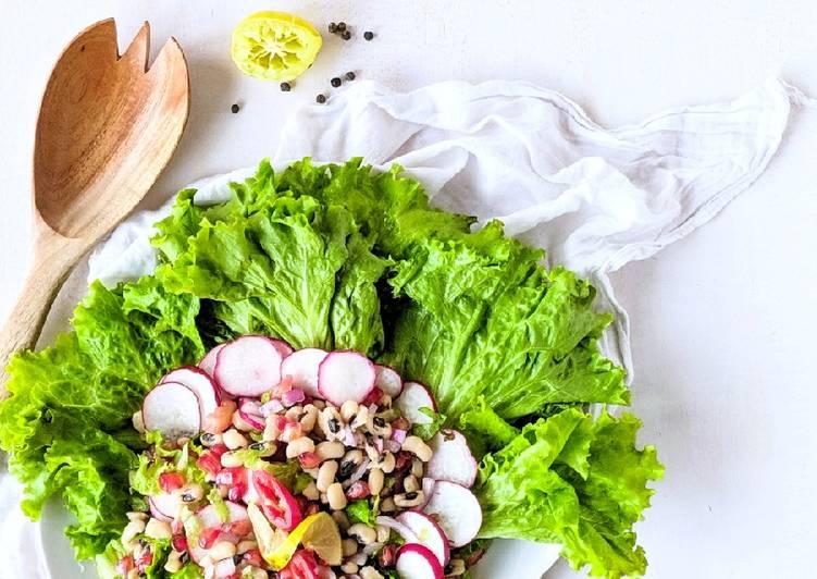 Lobia / black-eyed peas salad
