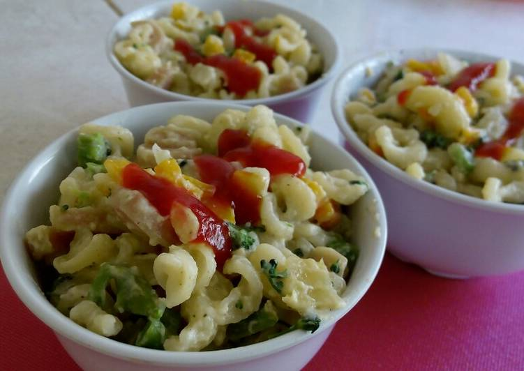 Makaroni Kukus Sosis &Sayuran