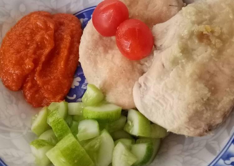 Ayam Pop dan Sambal - menu sehat