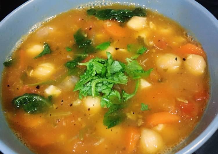 Moroccan Tomato Chickpea Soup