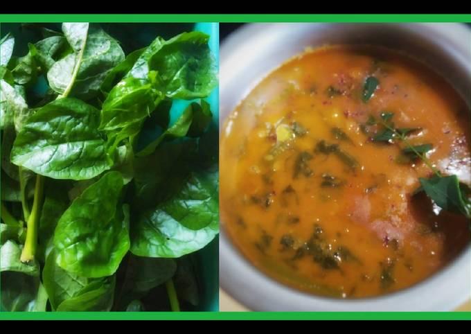 Malabar/vine spinach gravy