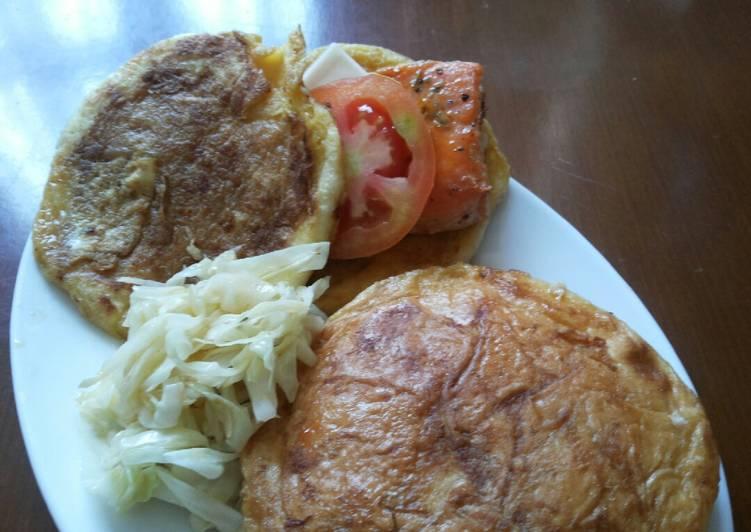 Roti panggang isi salmon