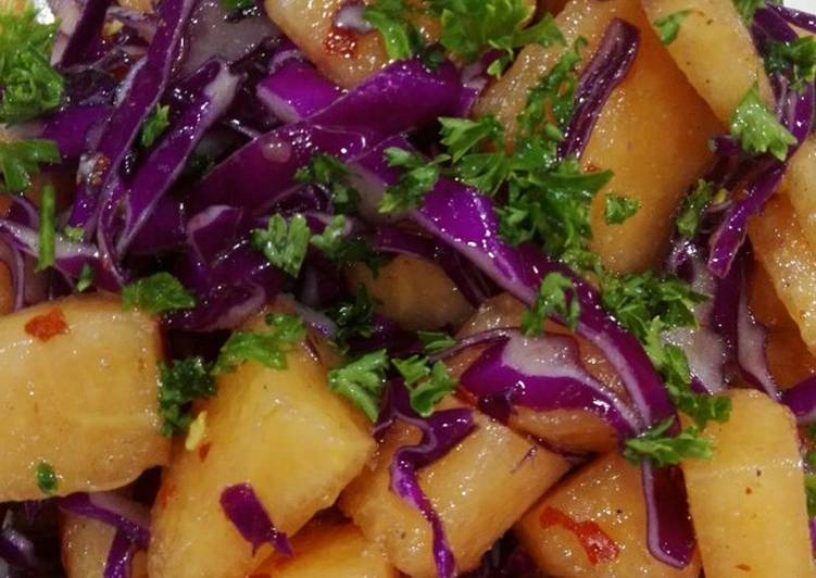 Simple Way to Prepare Award-winning Musk melon cabbage chilli dressing