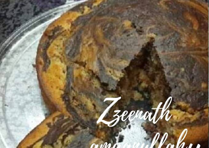 Vanilla Chocolate Tutti Frutti Swirl Cake