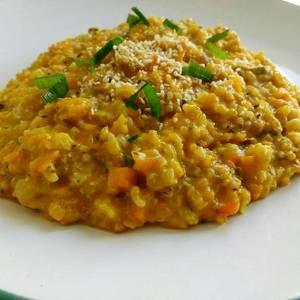 Risotto de arroz yamani y calabaza (vegano)