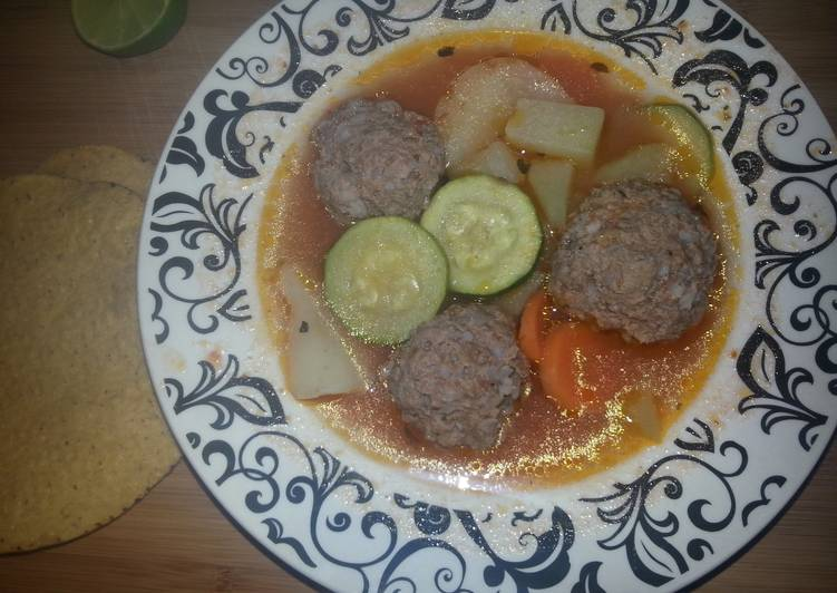 Recipe of Any-night-of-the-week Mexican Meatball soup aka Sopa de Albondigas