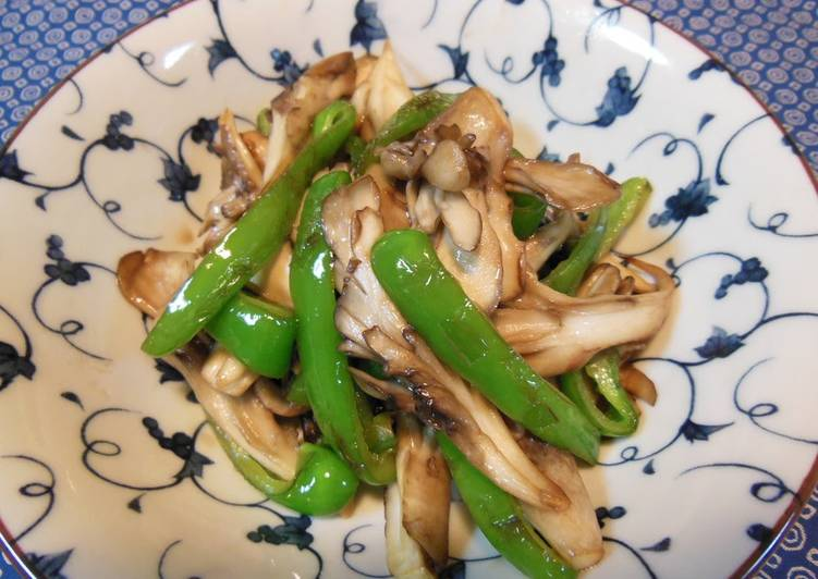 The Foods You Pick To Feed On Will Effect Your Health Maitake Mushrooms & Green Pepper Kombu Tea Stir-fry