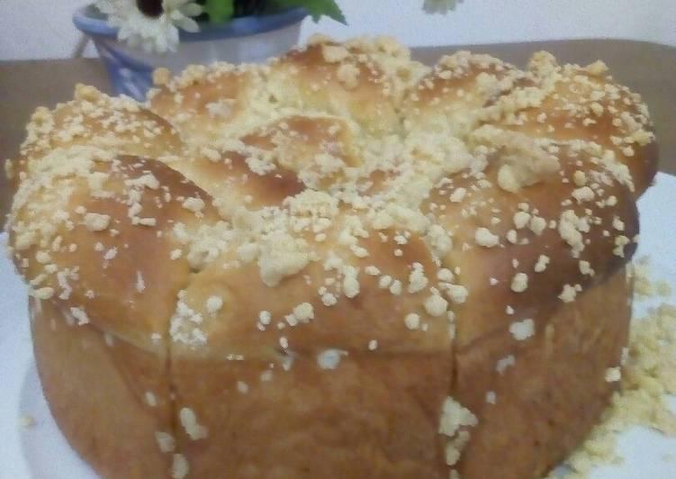 Resep Roti Sobek scramble isian Pizza, Lezat Sekali