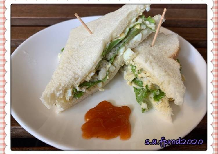 Resep Simple Egg Sandwich Terenak