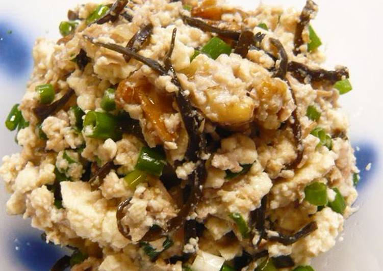 Sesame Oil Flavored Tofu and Shio-Kombu
