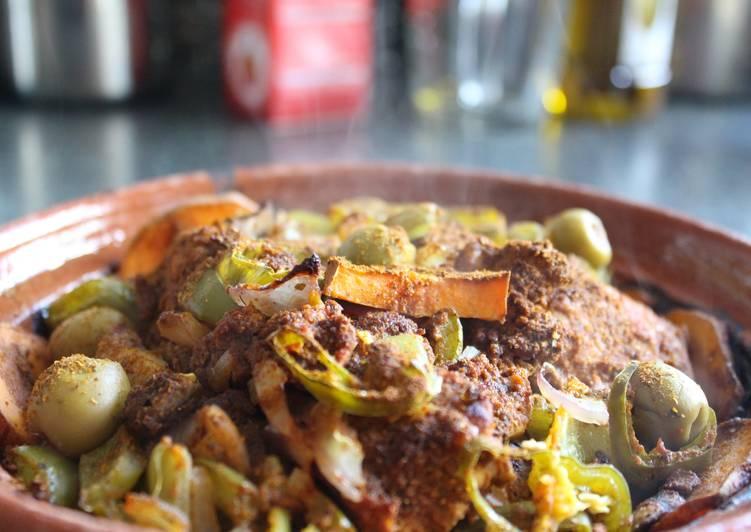 Spicy Curried Chicken Tagine