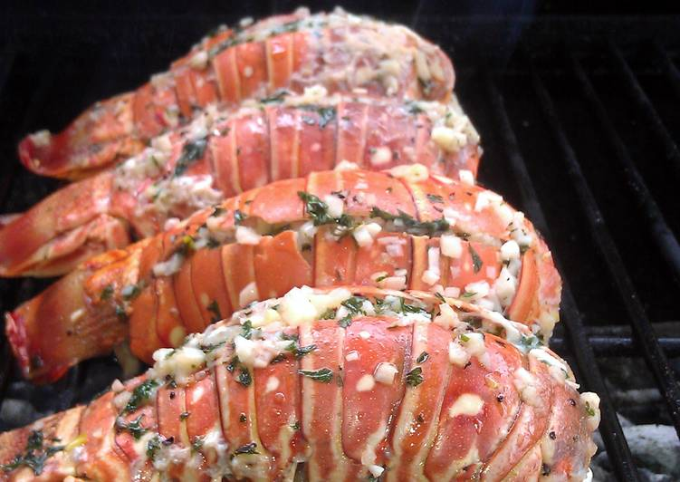 Grilled Garlic Lobster Tails