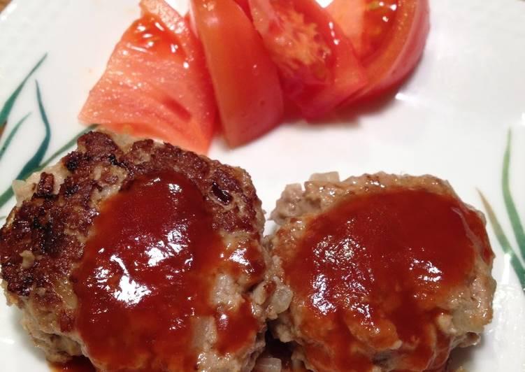 Tender Hamburger Steaks with Silken Tofu