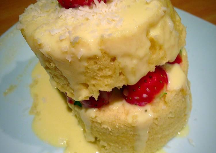 Vanilla Microwave Cake