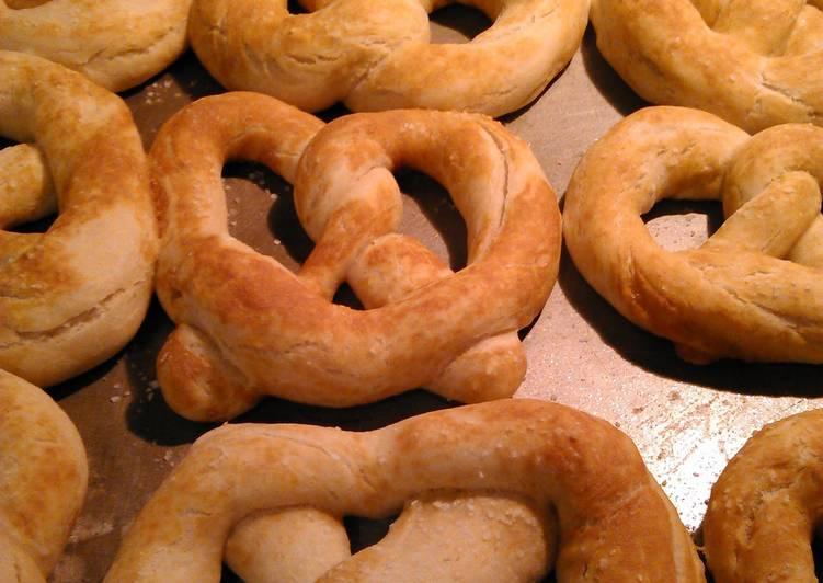 sourdough soft pretzels