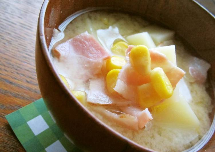 Buttered Potato and Corn Miso Soup
