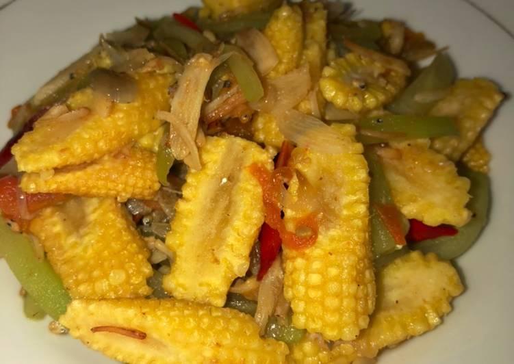 Resep Tumis labu siam, jagung putren dan teri Yang Simple Pasti Ngiler