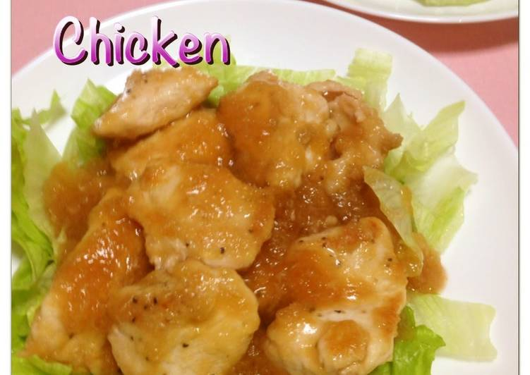 Healthy Chicken Breast with Plum & Grated Radish